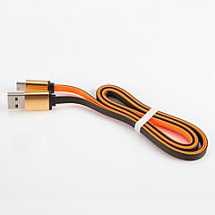 USB 2.0 C típus Lapos Hordozható Kábel Kompatibilitás Samsung Huawei Sony Nokia HTC Motorola LG Lenovo Xiaomi 100 cm PVC