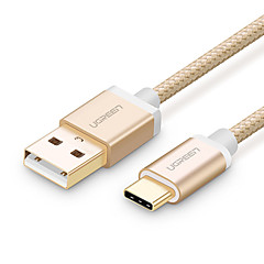 USB 2.0 Type C Flettet Kabel Til Samsung Huawei Sony Nokia HTC Motorola LG Lenovo Xiaomi 100 cm Nylon