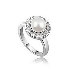 Damskie Pierscionek Natura Perłowy Skórzany Stop Biżuteria Na Codzienny
