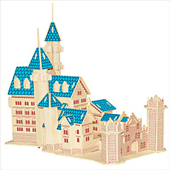 Jigsaw Puzzles Wooden Puzzles Building Blocks DIY Toys New Dream Castle 1 Wood Ivory Model & Building Toy