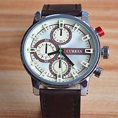 Modieus horloge Kwarts Leer Band Vrijetijdsschoenen Zwart Rood Bruin Zwart Fuchsia Bruin