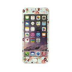 til Apple iPhone 7 4.7 tommer hærdet glas med blød kant fuld skærm dækning foran skærmen protektor blomster mønster