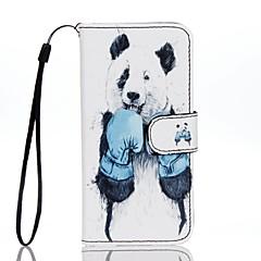 For Kortholder Pung Med stativ Flip Mønster Etui Heldækkende Etui Dyr Hårdt Kunstlæder for AppleiPhone 7 Plus iPhone 7 iPhone 6s Plus/6