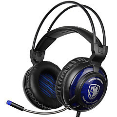 sades sa-805 3,5 mm gaming headset med mikrofon støjreduktion musik hovedtelefoner sort-blå for PS4 bærbar pc mobiltelefoner