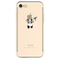 Til iPhone X iPhone 8 iPhone 7 iPhone 6 iPhone 5 etui Etuier Mønster Bagcover Etui Leger med Apple-logo Panda Blødt TPU for Apple iPhone