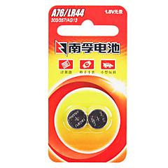 Nanfu AG13 πακέτο κουμπί κέρμα κελί αλκαλική μπαταρία 1.5V 140mAh 2