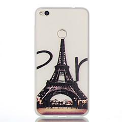 Varten Hehkuu pimeässä Kuvio Etui Takakuori Etui Eiffelin torni Pehmeä TPU varten HuaweiHuawei P10 Lite Huawei P10 Huawei P9 Huawei P9