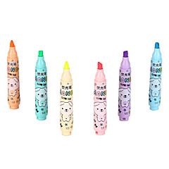 szövegkiemelő 6 szín tinta 1 készlet 6 db
