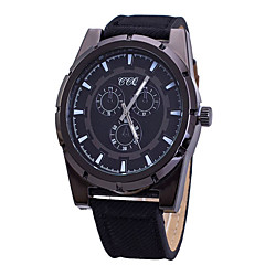 Fashion Watch Quartz Leather Band Casual Black Blue Brown