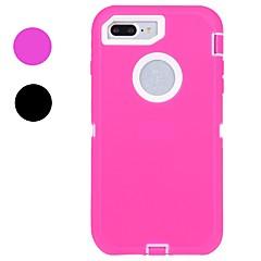 Voor Schokbestendig Waterbestendig hoesje Volledige behuizing hoesje Effen kleur Zacht Rubber voor AppleiPhone 7 Plus iPhone 7 iPhone 6s