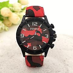 Da uomo Orologio alla moda Quarzo Gomma Banda Nero Blu Rosso Marca