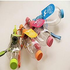 Perro Cuencos y Botellas de Agua Mascotas Cuencos y Alimentación Portátil Color Aleatorio Plástico
