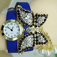 Modieus horloge Digitaal horloge Digitaal Leer Band Blauw Rood Orange