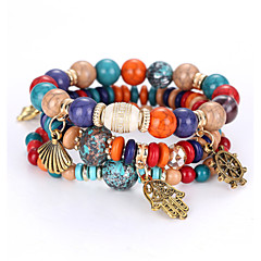 Strand Bracelet Bracelet Acrylic Fashion Shambhala European American Fashion New Bracelet Palm Crown Restoring Ancient Multilayer Beaded Bracelet