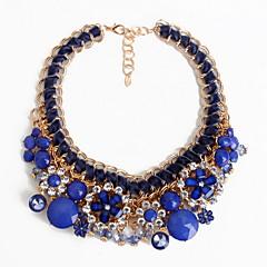 Damskie Pasemka Naszyjniki Biżuteria Biżuteria Kamień szlachetny Stop Kwiat Europejski Modny Osobiste euroamerykańskiej Biżuteria Na