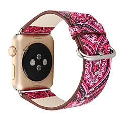 nationale vintage folk stijl bloemen kleurrijke lederen horloge band riem voor apple horloge iWatch 38 / 42mm armband