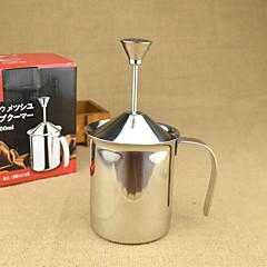 400 ml Acier Inoxydable Mousseur à lait , Latte Art Fabricant Réutilisable Manuel(le)
