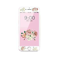 til Apple iPhone 7 4.7 hærdet glas skærmbeskytter med blød kant fuld skærm dækning foran skærmbeskytter tegnefilm blomster mønster