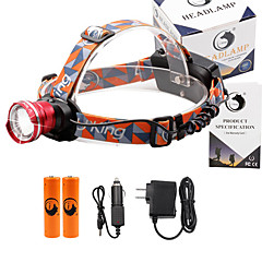 Stirnlampen 2000 Lumen 3 Modus Cree XM-L T6 18650 einstellbarer Fokus Kompakte GrößeCamping / Wandern / Erkundungen Für den täglichen