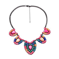 Women's Pendant Necklaces Jewelry Alloy Jewelry Fashion Personalized Euramerican Bohemian Yellow Red JewelryParty Special Occasion