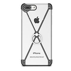 Voor met standaard Ringhouder hoesje Bumper hoesje Effen kleur Hard Aluminium voor AppleiPhone 7 Plus iPhone 7 iPhone 6s Plus/6 Plus