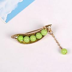 Broszki Biżuteria Perłowy Żywica Stop Geometryczny euroamerykańskiej minimalistyczny styl Leaf Shape Light Green BiżuteriaCodzienny