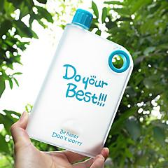 Erikois Frosted Juomalasit, 400 ml Vuotamaton BPA: ta Muovi Mehu Vesipullot