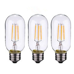 3PCS 4W B22/E27  LED Filament Bulbs T45 4COB 400 lm Warm White Dimmable AC 220-240 AC 110-130 V