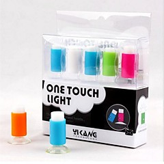 5pcs skubbe pin lys sugekop sugekop én touch-nightlight mini førte romantisk bar lys