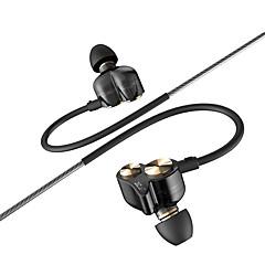 dzat dt-05 3,5 milímetros dinâmica de casal no fone de ouvido desportivos de ruído fone de ouvido dj fones de ouvido fone de ouvido de