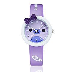 KEZZI Женские Дети Модные часы Кварцевый / силиконовый Группа Повседневная Черный Белый Синий Розовый ФиолетовыйБелый Черный Лиловый