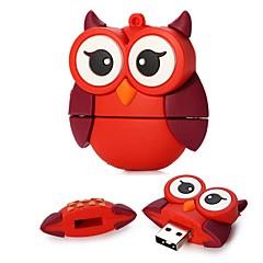 16gb großen Augen rot Eule USB 2.0-Flash-Laufwerk für Festivalgeschenk / Business / Lagerung