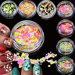 12bottles/set Nail Art dekoráció strasszos gyöngy smink Kozmetika Nail Art Design