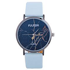 Módní hodinky Náramkové hodinky Křemenný Kůže Kapela Přívěsek Cool Běžné nošení kreativita Černá Bílá Modrá RoseBílá Černá Světle modrá