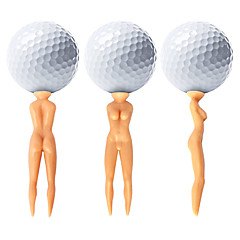 Nuddie Naked Lady Golf Tees - 50 pcs
