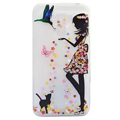 Για Στρας Λάμπει στο σκοτάδι Παγωμένη Ημιδιαφανές Με σχέδια tok Πίσω Κάλυμμα tok Σέξι κυρία Γάτα Μαλακή TPU για AsusAsus ZenFone 3