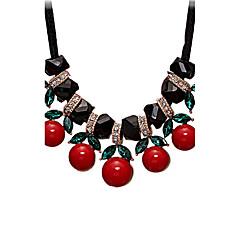 Damskie Oświadczenie Naszyjniki Multi-kamień Biżuteria Kryształ Żywica Kryształ górski Nylon Stop Sexy Korygujący Czerwony Biżuteria Na