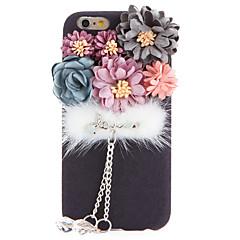 For Rhinsten GDS Etui Bagcover Etui Blomst Blødt Tekstil for Apple iPhone 7 Plus iPhone 7 iPhone 6s Plus/6 Plus iPhone 6s/6