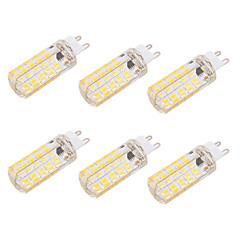 4W G9 E26/E27 LED 콘 조명 T 80 SMD 5730 400 lm 따뜻한 화이트 차가운 화이트 밝기 조절 장식 AC 220-240 AC 110-130 V 6개
