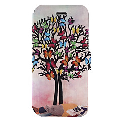 Για Θήκη καρτών με βάση στήριξης Ανοιγόμενη Με σχέδια tok Πλήρης κάλυψη tok Δέντρο Σκληρή Συνθετικό δέρμα για Wiko Wiko Jerry Wiko Lenny 3