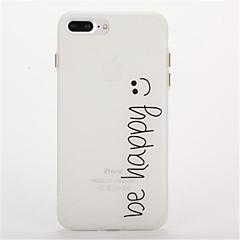 Para Brilha no Escuro Áspero Com Relevo Capinha Capa Traseira Capinha Palavra / Frase Macia TPU para AppleiPhone 7 Plus iPhone 7 iPhone