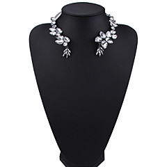 Women's Choker Necklaces Jewelry Jewelry Gem Alloy Euramerican Fashion Silver Gold Jewelry For Party Gift 1pc