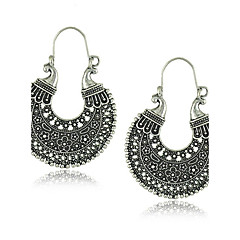 Hoop Earrings Jewelry Alloy Circular Unique Design Vintage Round Jewelry Party Daily Casual 1 pair