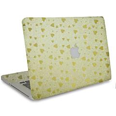 1 stk Motstår Risser Ensfarget Gjennomsiktig plast Klistremerke Glimtende Glitter Mønster TilMacBook Pro 15'' med Retina MacBook Pro 15