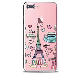 Για Διαφανής Με σχέδια tok Πίσω Κάλυμμα tok Φαγητό Πύργος του Άιφελ Μαλακή TPU για AppleiPhone 7 Plus iPhone 7 iPhone 6s Plus iPhone 6