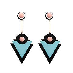 Drop Earrings Acrylic Alloy Geometric Fashion Personalized Euramerican Triangle Shape Beige Coffee Blue Depression Pink JewelryWedding