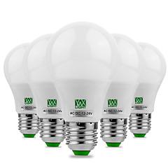 5W E26/E27 Lâmpada Redonda LED 10 SMD 5730 400-500 lm Branco Quente Branco Frio Decorativa AC 12 V 5 pçs