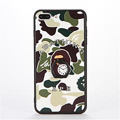 Mert Tartó gyűrű Dombornyomott Minta Case Hátlap Case Álcázás Kemény PC mert AppleiPhone 7 Plus iPhone 7 iPhone 6s Plus iPhone 6 Plus