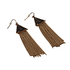 Drop Earrings Jewelry Tassels Euramerican Fashion Gem Alloy Jewelry Blue Brown Jewelry For Party Gift Casual 1 pair