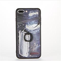 Για Βάση δαχτυλιδιών Ανάγλυφη Με σχέδια tok Πίσω Κάλυμμα tok Πανκ Σκληρή PC για AppleiPhone 7 Plus iPhone 7 iPhone 6s Plus iPhone 6 Plus